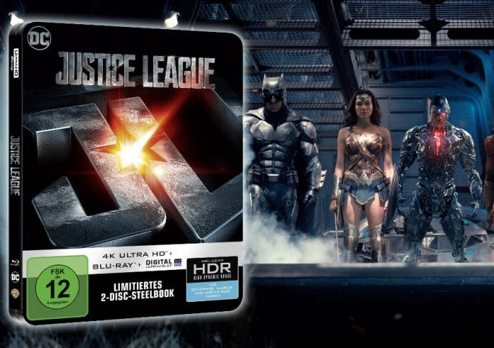 Justice League 4K Blu-ray Steelbook