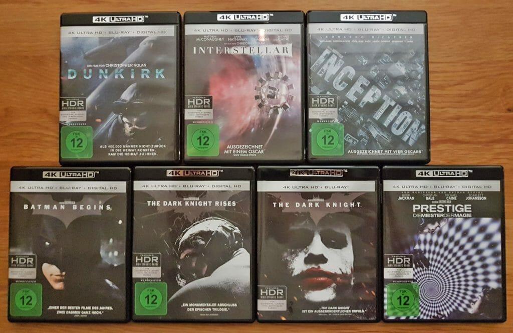 """Die Cover haben das gleiche Design wie die US-Versionen. Alle Titel haben auch ein Wendecover ohne FSK-Logo (siehe """"The Dark Knight"""")"""