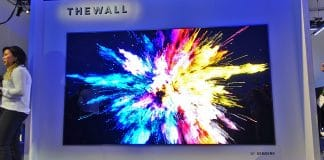 The Wall Micro LED TV von Samsung ist vielleicht das Highlight der CES 2018