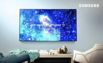 """Samsung hat eine Abbildung des 75 Zoll """"The Wall"""" Micro-LED-TV auf Facebook geposte"""