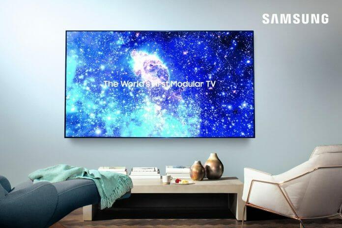 Samsung hat eine Abbildung des 75 Zoll