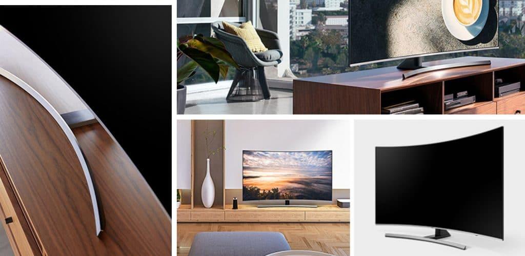 Auch in 2018 wird es von Samsung mit der NU7300 und NU8500 Serie noch curved UHD TVs geben