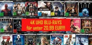 Eine breite Auswahl von 4K Blu-Rays ist auf Amazon.de für unter 21 Euro zu bekommen
