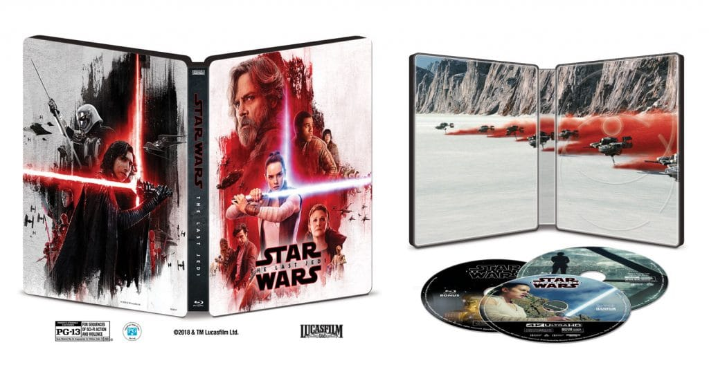 """In den USA wird es auch limitierte Steelbook Edition der """"Star Wars: Die letzten Jedi"""" UHD Blu-ray geben"""