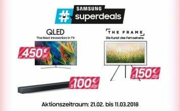 #superdeals: Bis zu 1.000 Euro Cashback (oder Direktabzug je nach Händler) auf ausgewählte Samsung-Aktionsgeräte erhalten