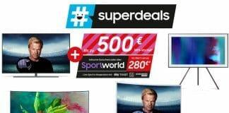 Mit den Superdeals bis zu 500 Euro Cashback auf QLED TVs, The Frame, Soundbars uvm. sichern
