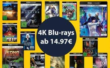 4K UHD Blu-rays teils drastisch reduziert - ab 14.97 EUR!