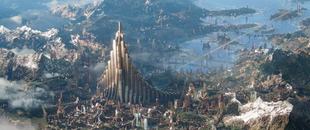 Nicht nur Asgard ist eindrucksvoll animiert. Der hohe CGI-Aufwand rechtfertigt ein 2K Kinomaster