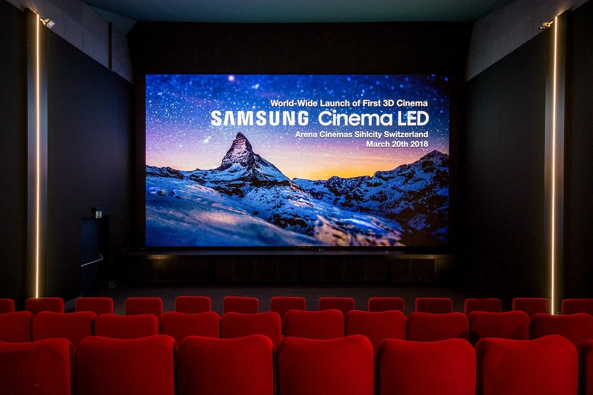 samsung 3d cinema led screen erstes kino in z rich. Black Bedroom Furniture Sets. Home Design Ideas
