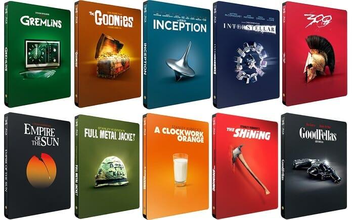 Neue exklusive Steelbook-Editionen beliebter Klassiker auf Amazon.de (erhältlich ab 26. April)