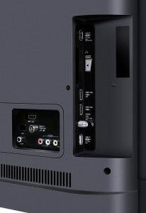 Drei HDMI-Eingänge, zwei USB-Eingänge, ein CI-Slot, AV-Anschlüsse sowie ein Lan-Eingang ist so ziemlich alles was man braucht