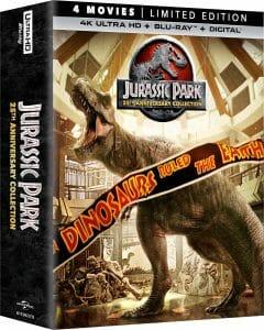 Würde sich ganz gut in der Filmsammlung machen: Jurassic Park 4K Collection (US-Abbildung)