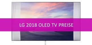 LG hat die Preise für das 2018 OLED TV Lineup veröffentlicht