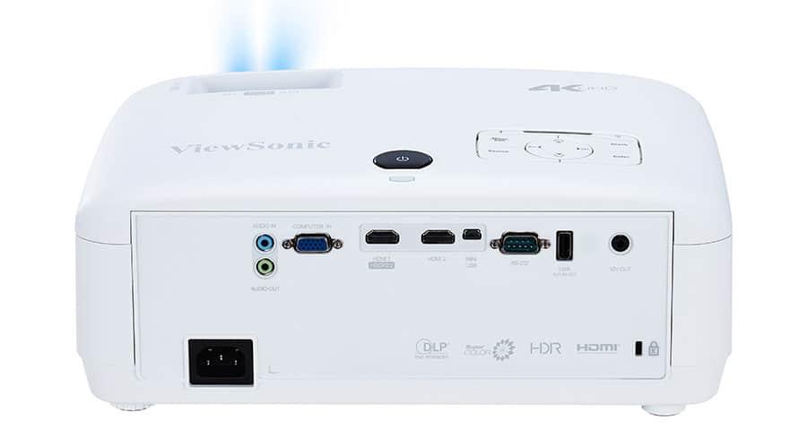Anschlüsse des ViewSonic PX747-4K: 2x HDMI, USB, VGA, Audio-in und Audio-out
