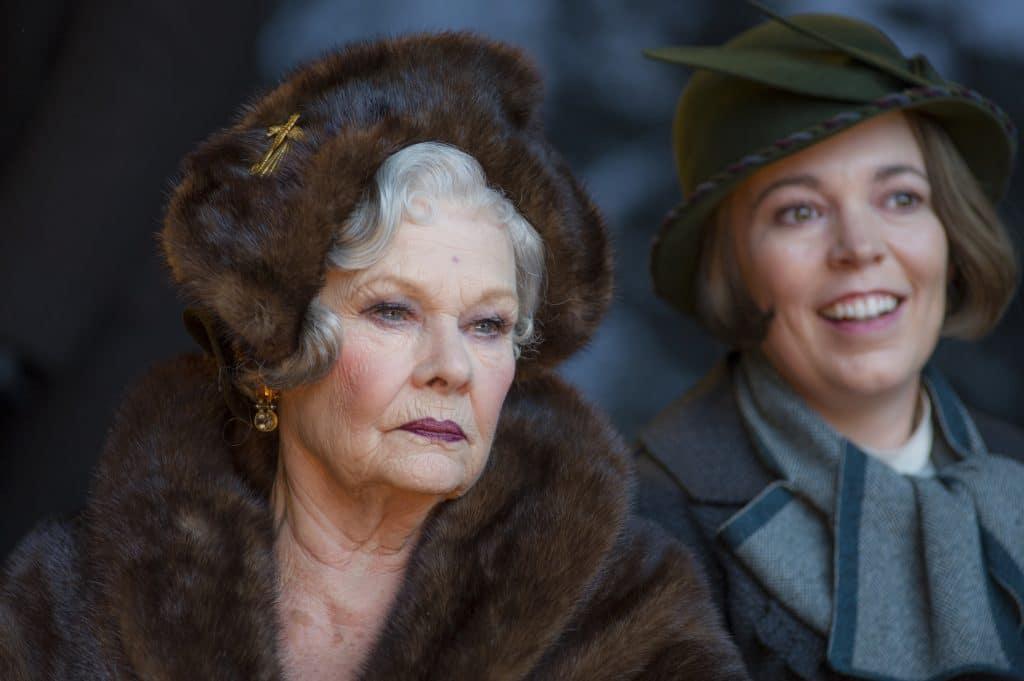 Hauptdarstellerin Judi Dench (Prinzessin Dragomiroff) und Olivia Colman (Hildegard Schmidt)