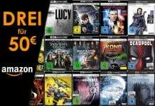 """Amazon kopiert die """"Drei für 50 EUR"""" Aktion. Günstig 4K UHD Blu-rays einkaufen!"""