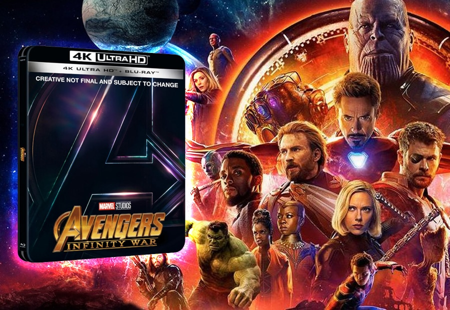 "marvels ""avengers: infinity war"" erscheint auf blu-ray, 3d blu-ray"