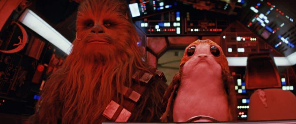 Chewbacca ist Kult, über die Porgs haben sich aber viele Zuschauer aufgeregt - Wollte man hier einen Merchandising-Charakter ähnlich BB8 installieren?