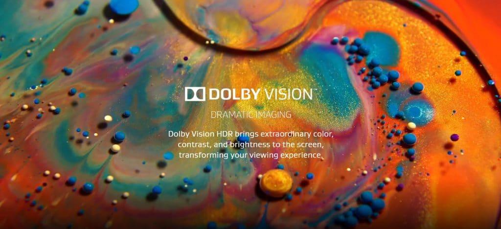 """Zufall? Die Startseite der Dolby Vision Homepage erinnert doch stark an das Demo-Video welches auf der """"The Wall"""" Präsentation lief"""
