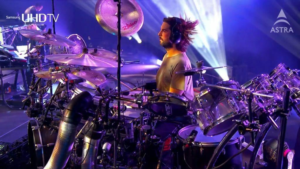 Marcel Gonska hat auch schon bei großen Produktionen, wie der 4K-Live-Übertragung des Linkin Park Konzerts 2014