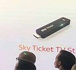Bislang die erste Abbildung des Sky Ticket TV Sticks