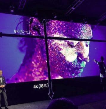 Sony eröffnet die NAB Pressekonferenz auf einem modularen 8K Micro-LED-Display mit 11 Meter Diagonale. Bildquelle: AmericanCine / ascmag.com