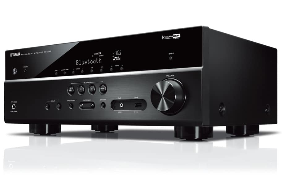 yamaha rx v385 g nstiger 5 1 kanal av receiver mit hdmi 2. Black Bedroom Furniture Sets. Home Design Ideas