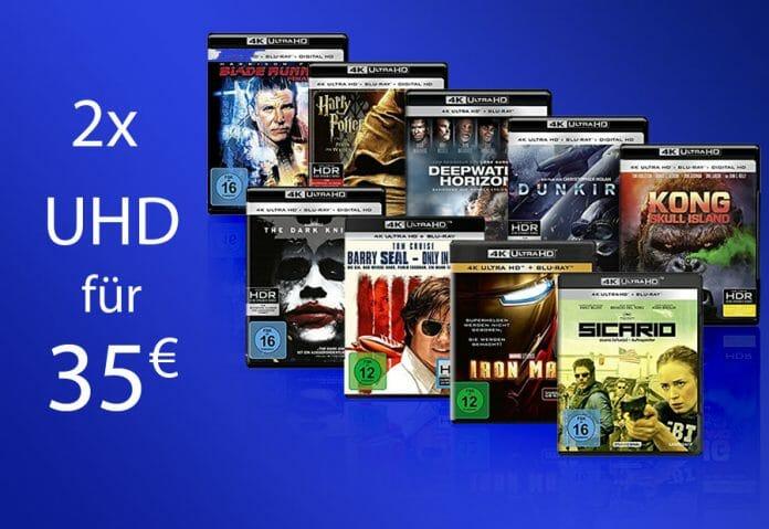 Zwei 4K UHD Blu-rays zum Preis von 35 Euro - Wählt aus über 160 Titeln