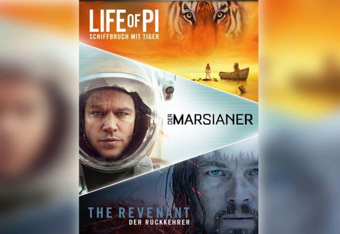 3 Filme für nur 15 Euro auf iTunes (Der Marsianer, The Revenant, Life of Pi)