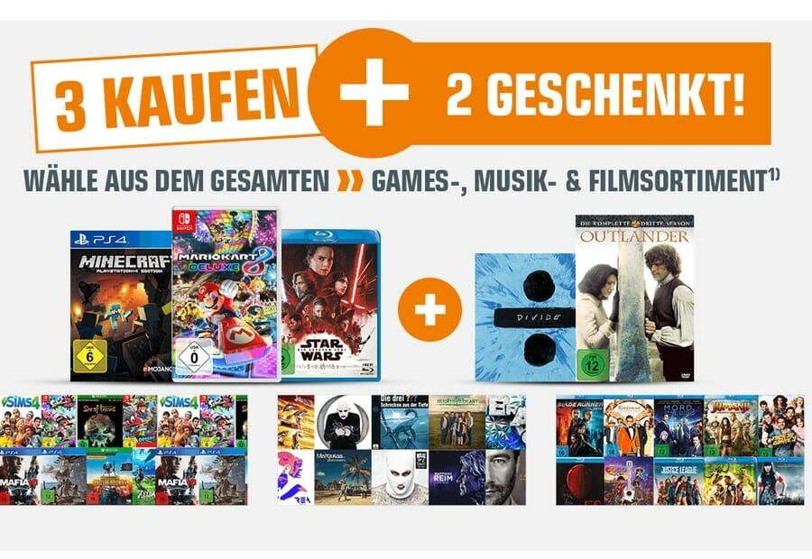 3 kaufen 2 geschenkt auf filme serien musik games auf bis zu 40 sparen. Black Bedroom Furniture Sets. Home Design Ideas