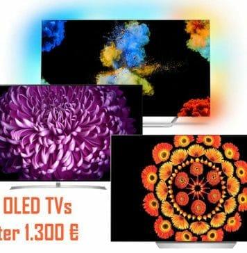 4K OLED TVs für unter 1.300 Euro gibt es immer wieder einmal im Angebot