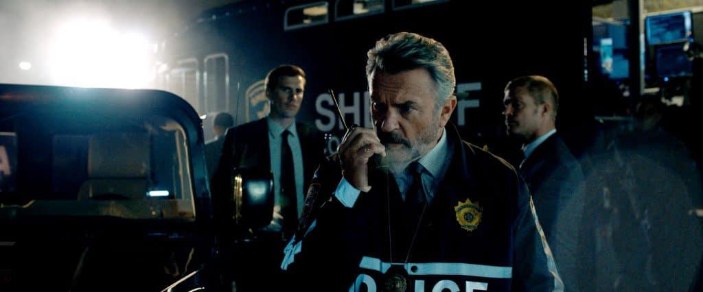 Polizeichef Hawthorne (Sam Neill) im Einsatz