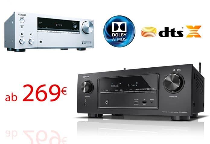 AV-Receiver mit DTS:X und Dolby Atmos ab 269 Euro!