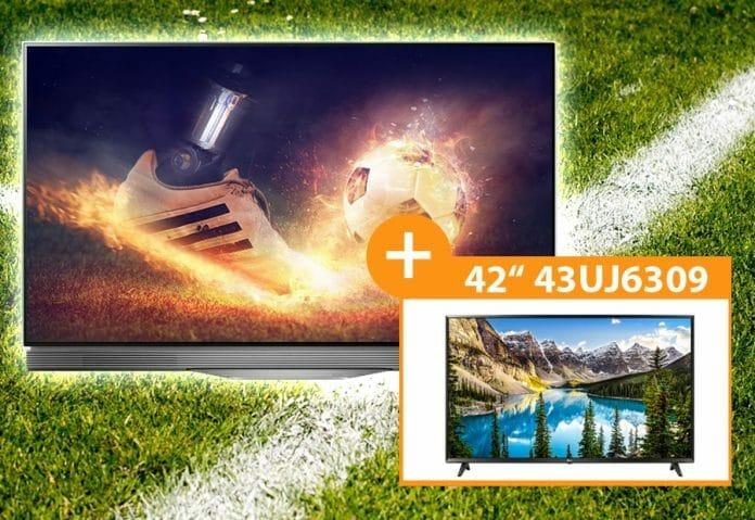 Den LG OLED55E7N gibt es zum Bestpreis von 1.699 EUR + Full-HD TV mit 43 Zoll geschenkt!