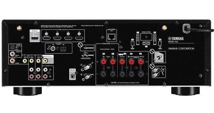 Übersichtlich: Anschlüsse des RX-V485