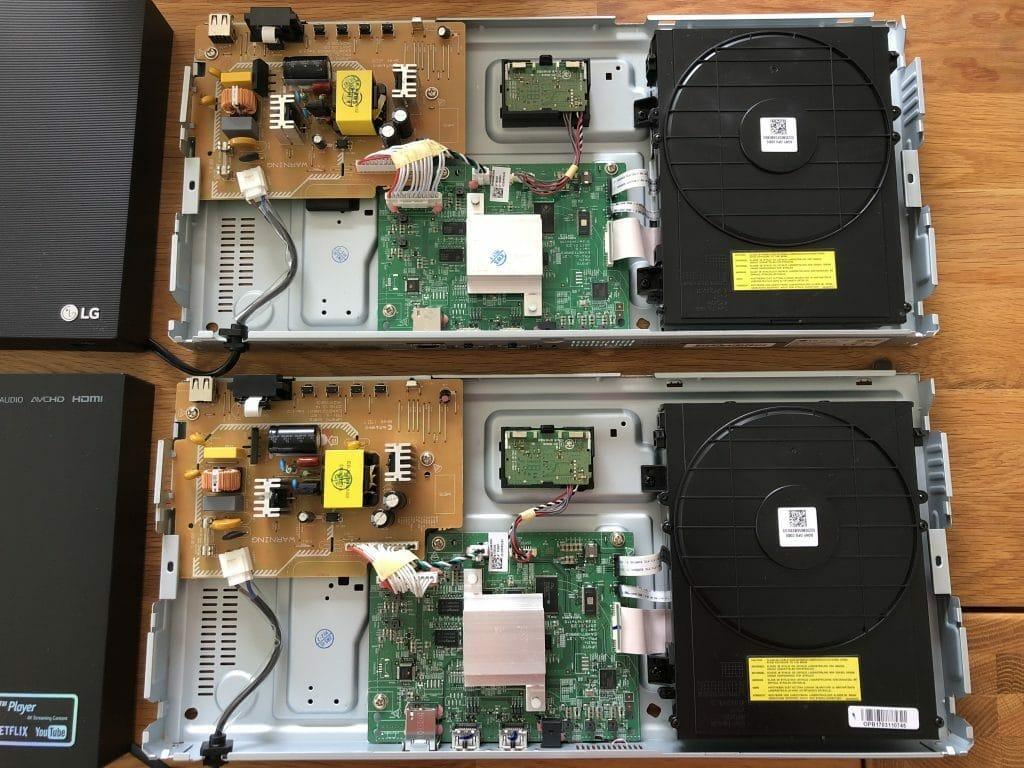 Beide Player UBK90 und UP970 basieren auf der Technik (Hauptplatine, Strom-Sektion, 4K Laufwerk) des 2017er Modells UP970