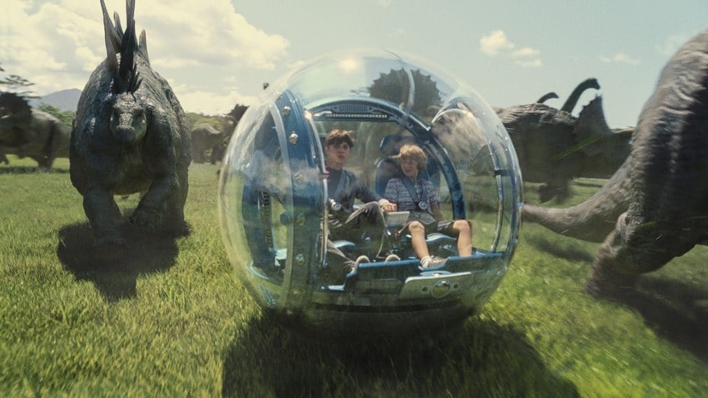 Jurassic World 2014 begeistert mit seinen digitalen Effekten, die Bildschärfe ist aufgrund des 2K Kinomasters unter seinen Möglichkeiten geblieben