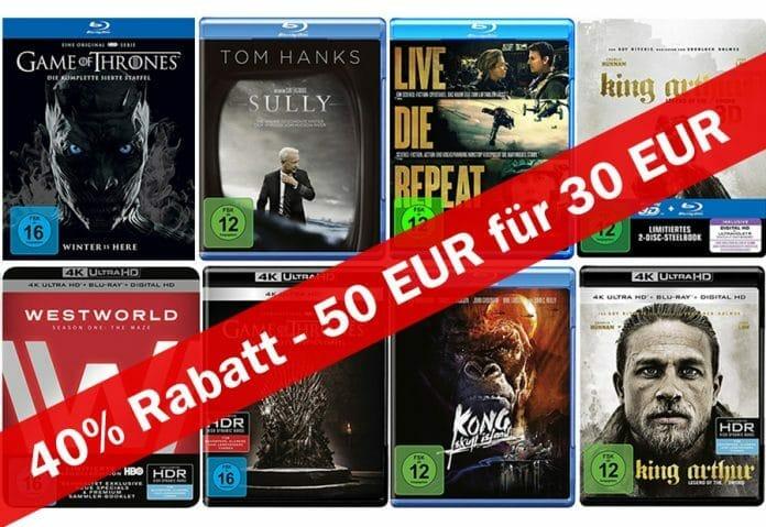 Film & Serien-Aktion zum Wochenauftakt. Für 50 EUR kaufen und nur 30 EUR zahlen!