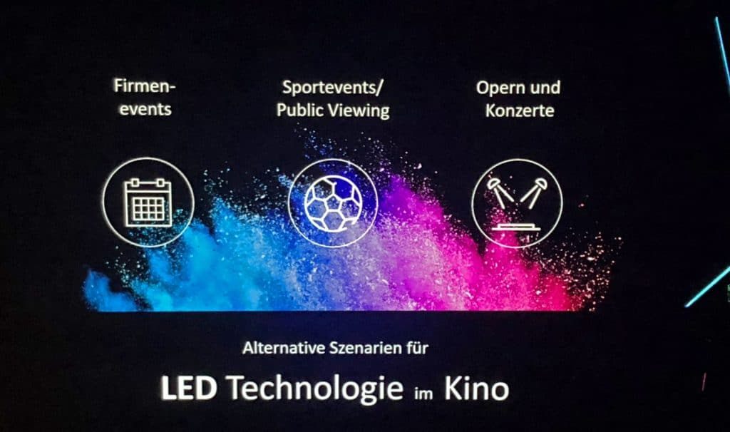 Alternative Einsatzmöglichkeit der Samsung Cinema LED-Leinwand