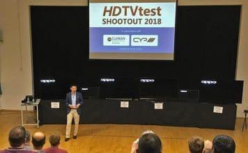Samsung Q9FN sowie drei OLED-TVs von Sony, Panasonic und LG standen sich im TV Shootout 2018 gegenüber bzw. nebeneinander