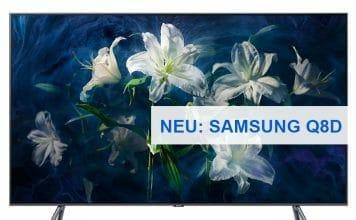 Q8D: Samsung erweitert sein QLED-Lineup um ein zusätzliches Modell mit Direct-LED-Backlight