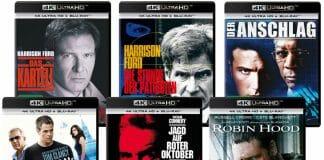 """Sechs neue Filme auf 4K Blu-ray, darunter auch """"Robin Hood"""" oder """"Jagd auf roter Oktober"""""""