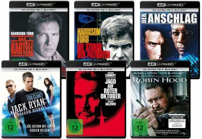 Sechs neue Filme auf 4K Blu-ray, darunter auch