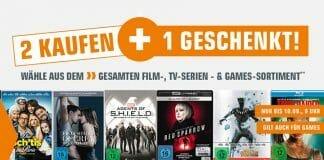 2 Kaufen 1 Geschenkt auf Filme, Games und ausgewählte Top-Alben