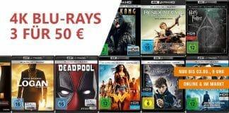 Drei 4K Blu-rays für 50 Euro!