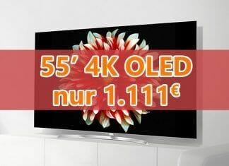 Ein neuer Bestpreis für LGs 4K OLED55B7D = 1.111 Euro!