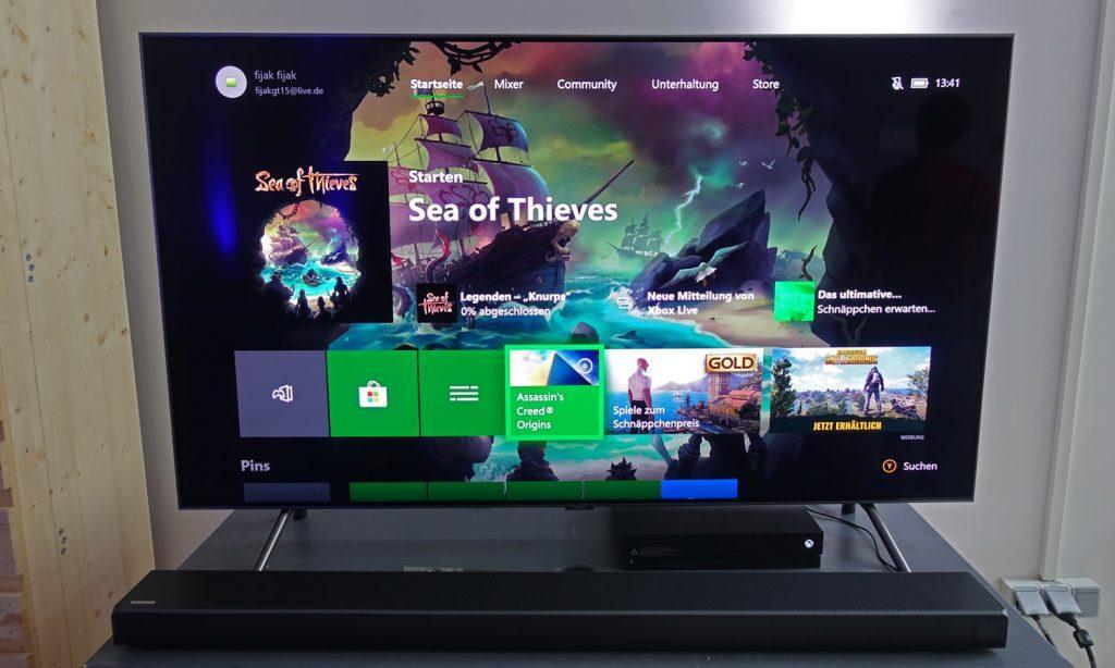 Eine unschlagbare Kombination? Samsungs QLED TVs (Abgebildet Q8D) und Microsofts Xbox One X Konsole