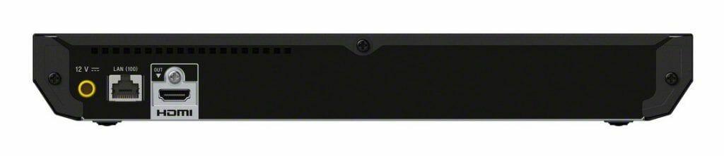 Auf der Rückseite des UBP-X500 gibt es nur einen LAN (Ethernet-Port), einen HDMI-Ausgang sowie einen Stromanschluss