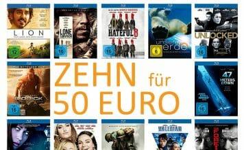 Perfekt um die Löcher in der heimischen Filmsammlung zu stopfen: Zehn Blu-rays für 50 Euro!