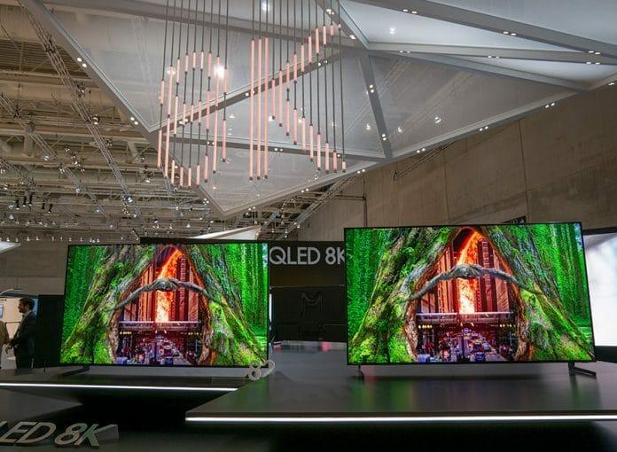 samsung 8k fernseher mit ber 100 zoll auf der ces 2019 4k filme. Black Bedroom Furniture Sets. Home Design Ideas